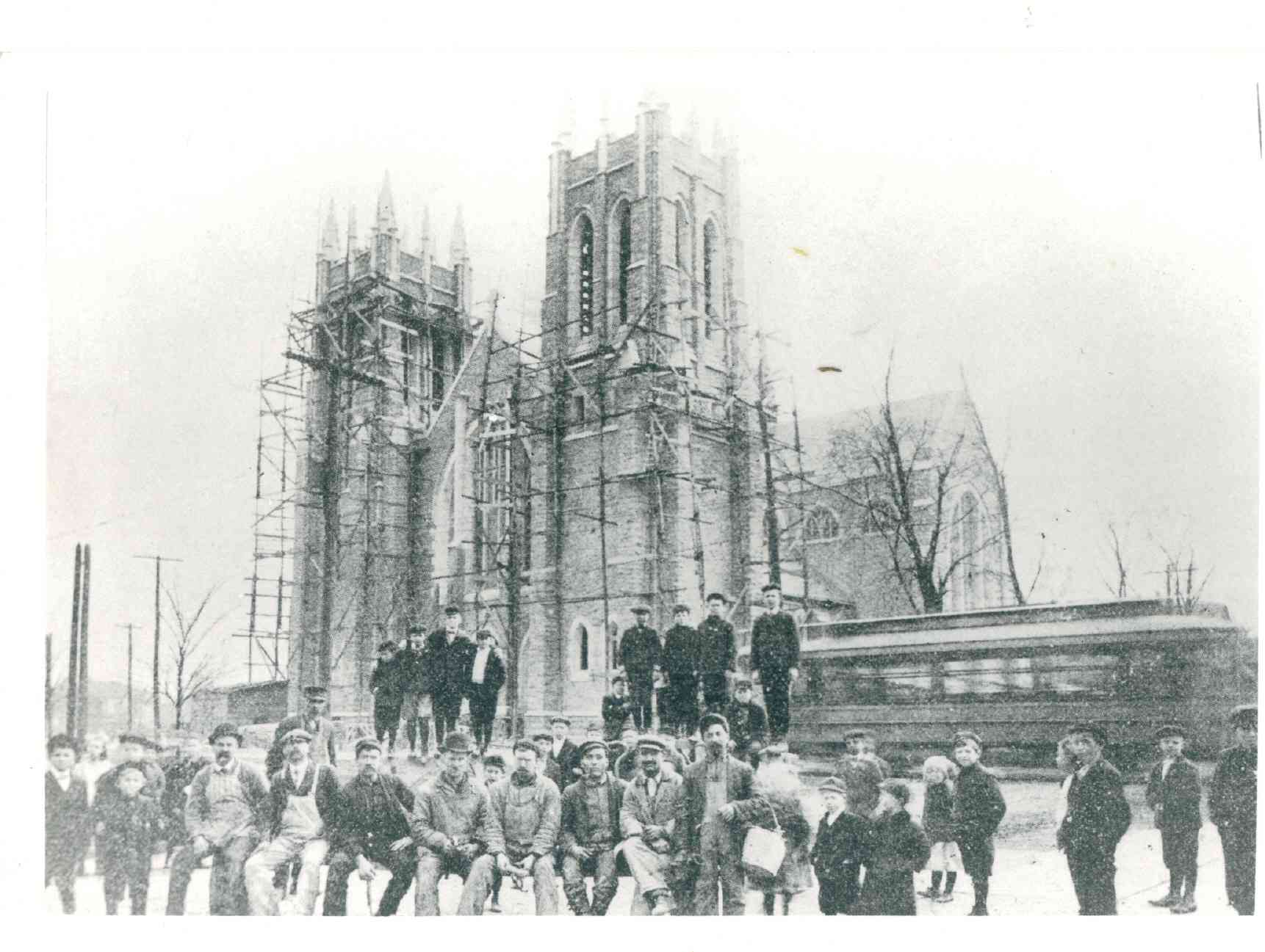 1908 Building Sacred Heart Church